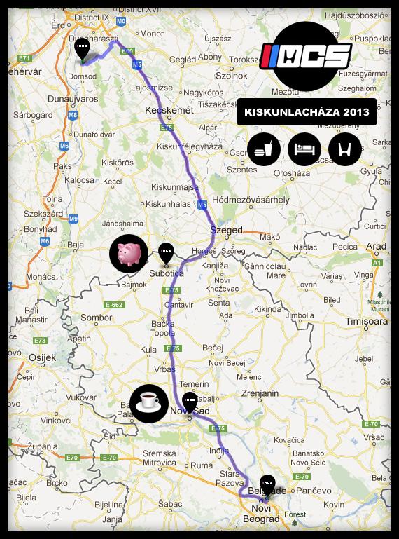 HCS Kiskunlachaza 2013 - okvirni plan puta